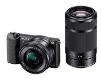 Digitalni fotoaparat  SONY ILCE5100YB Alfa 5100 serije E s senzorjem APS-C (z objektivoma 16\u201350 mm in 55\u2013210 mm)